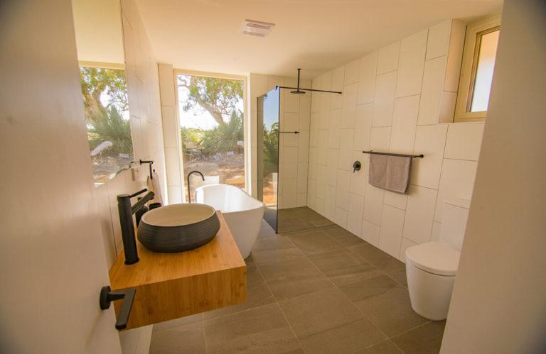 Ecopia Retreat bathroom - Kangaroo Island luxury accommodation - Exceptional Kangaroo Island Tours