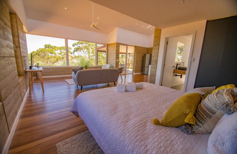 Ecopia Retreat bed - Kangaroo Island luxury accommodation - Exceptional Kangaroo Island Tours