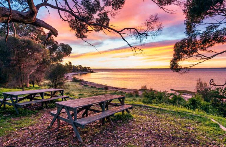 Mercure Kangaroo Island Lodge sunset view American River Kangaroo Island accommodation, Exceptional Kangaroo Island Tours
