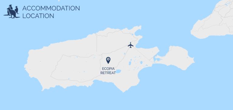 Ecopia Retreat map - Exceptional Kangaroo Island Tours