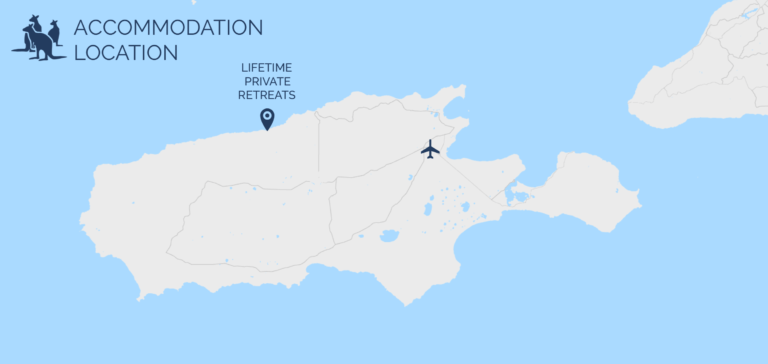 Map of Lifetime Private Retreats on Kangaroo Island