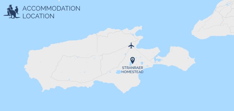 Stranraer Homestead map - Exceptional Kangaroo Island Tours