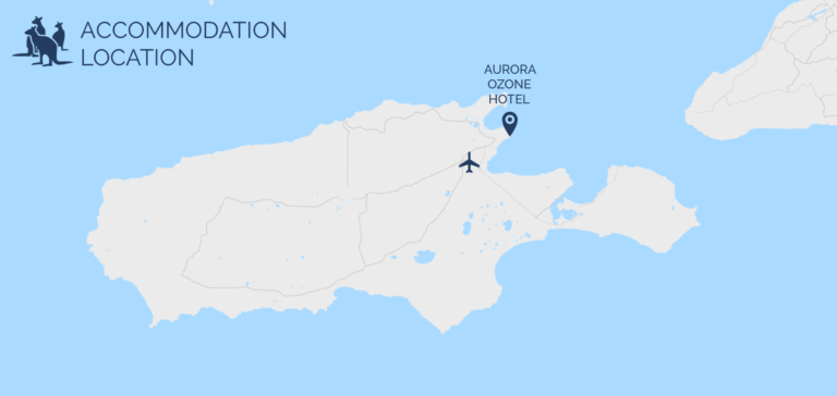 Aurora Ozone Hotel map - Exceptional Kangaroo Island Tours
