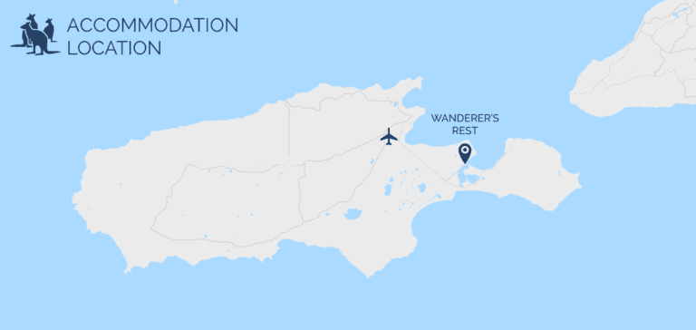 Wanderer's Rest map - Exceptional Kangaroo Island Tours