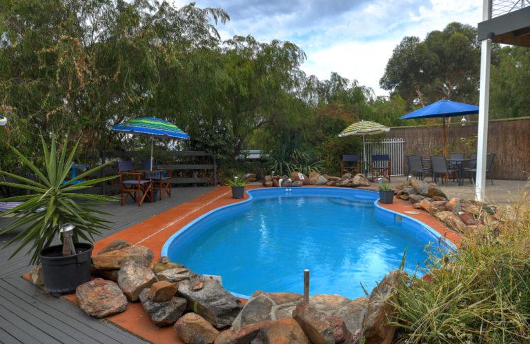 Wanderer's Rest pool, Kangaroo Island Accommodation, Exceptional Kangaroo Island Tours