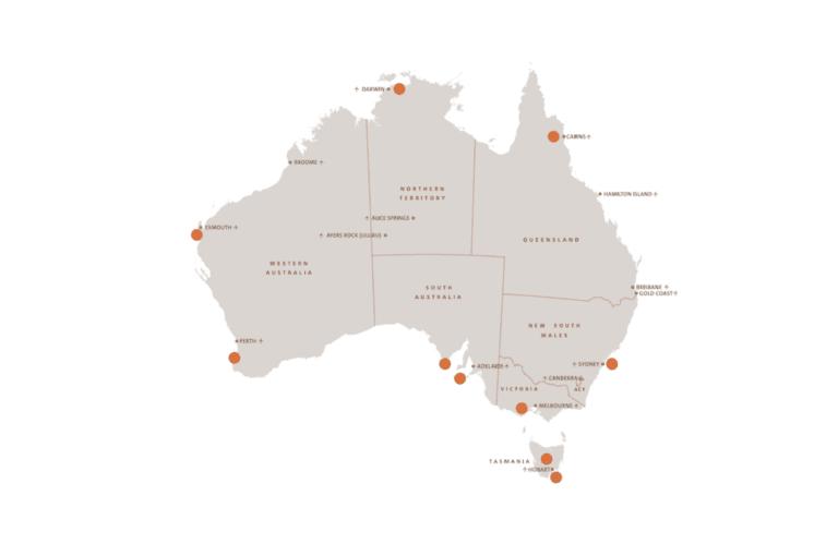 Australian Wildlife Journeys member map