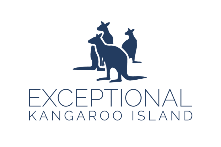 Exceptional Kangaroo Island vertical transparent logo blue - Australian Wildlife Journeys