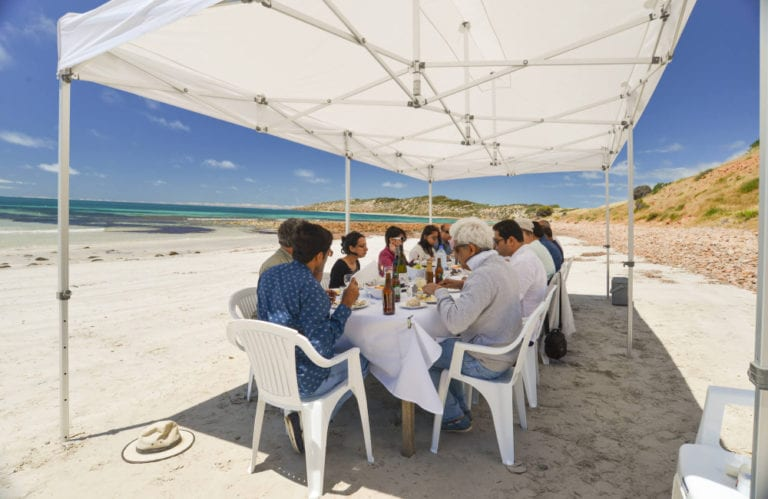 Lunch on the beach with Exceptional Kangaroo Island