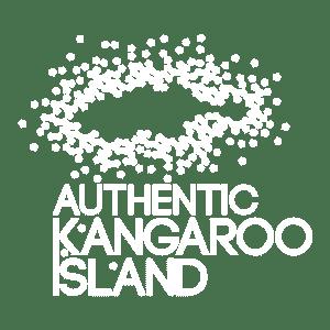 Authentic Kangaroo Island logo white transparent