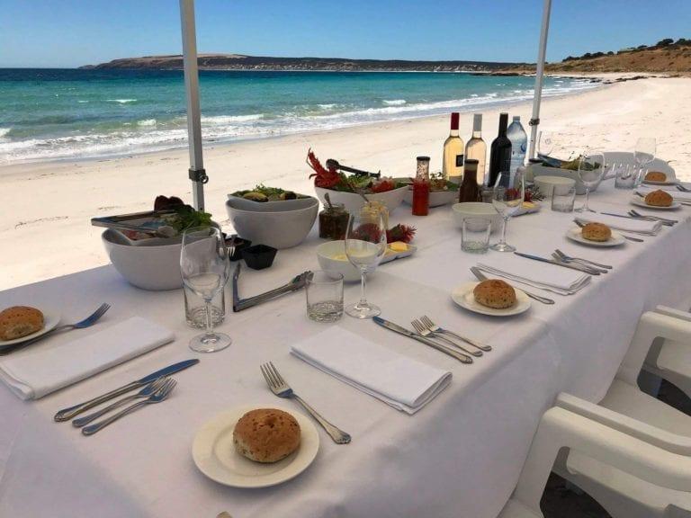 Beach Seafood Barbecue (BBQ). Exceptional Kangaroo Island Events.