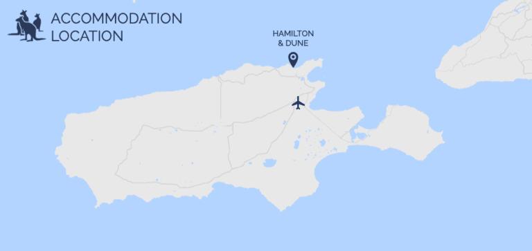 Hamilton and Dune map - Exceptional Kangaroo Island Tours
