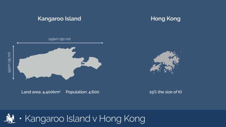 Kangaroo Island map comparison Hong Kong - Exceptional Kangaroo Island Tours